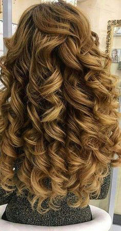 12 Big Curly Long Hairstyles: Curly Hairstyle for Bride Hair; 12 Big Curly Long Hairstyles: Curly Hairstyle for Bride Hair; Big Curls For Long Hair, Big Curly Hair, Long Curls, Perms For Long Hair, Hair Cuts For Long Hair Straight, Long Curled Hair, Hair Perms, Curly Pixie, Kinky Hair