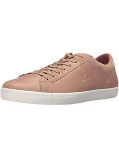 Lacoste Men's Straightset 316 2 Cam Fashion Sneaker, Light Tan, 13 M US ❤ Lacoste