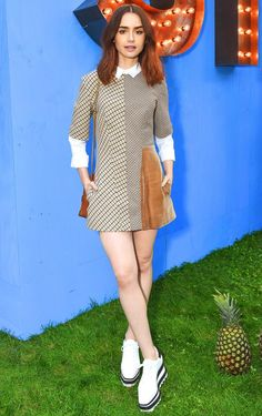 56d18c2be64aa Last Night's Look: Love It or Leave It? Lilly Collins DressLily ...