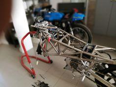 Space Frame, Racing Motorcycles, Twin, Frames, Engineering, Bike, Design, Motors, Bicycle