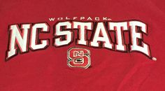 North Carolina State Wolfpack Embroidered Large Short Sleeve Tee T-Shirt A1 #Cadre #NCStateWolfpack