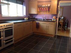 Purple mauve kitchen