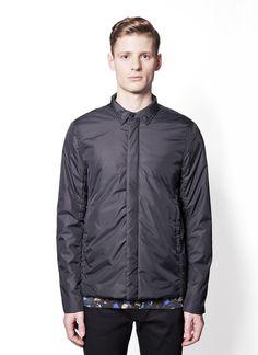 "Acne Studios - Fall Winter 2014 - Menswear // Black Nylon Coat ""ED"""