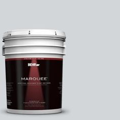 "Interior paint...Behr Marquee ""Twilight Gray"" in matte finish."