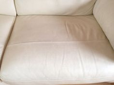 Leather sofa cleaned and sealed