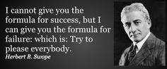 The formula for failure