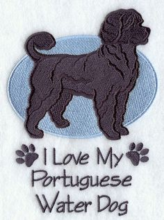 whimsical sketch of a portuguese water dog   Love My Portuguese Water Dog