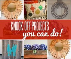 DIY Home Decor | Do you love Pottery Barn, Ballard, and Anthropologie but not their prices? Check out these knock off projects to get the look for LESS! | #Ad