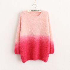 Sweet Pink Gradient Sweater <3