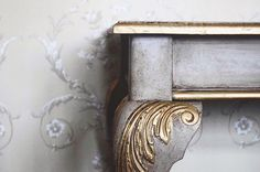 Beautiful delicate detail from the talented Jonathon Marc Mendes of Painted Love. Intricate gilding, soft Paloma Chalk Paint® and Dark Chalk Paint® Wax.