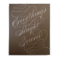 Everything's Alright Forever Print by Jason Wong