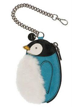 Prada penguin coin purse
