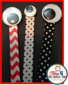 wiggly eye reading pointers, time 4 kindergarten, kindergarten pointers, bright ideas blog hop