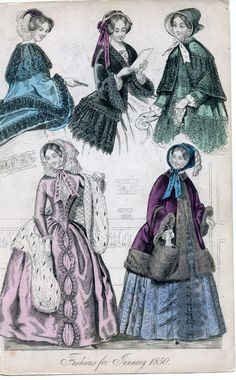 1850 Fashion | Fashions for January 1850