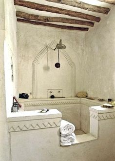 must admit I have always loved these Moroccan Showers, but the older I get the harder it is to get in and out.  Other thoughts  idea's??