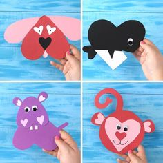 Heart shape animal crafts for kids. Valentines day crafts for kids. Paper animals to make in the classroom! Hippo, dog, whale, monkey, and way more! Free printables Source by Valentine's Day Crafts For Kids, Animal Crafts For Kids, Valentine Crafts For Kids, Toddler Crafts, Preschool Crafts, Projects For Kids, Diy For Kids, Preschool Winter, Craft Projects