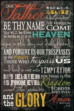 Christian Wall Art - The Lord's Prayer