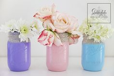Pastel Mason Jars And Floral Styling   Shabbyfufu