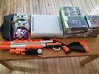 Microsoft Xbox 360 60GB hard drive Bundle Kinect Rifle and 40 games