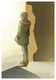 and Sherlock. Sherlock is the light and everything else is dark. Oh, John. Sherlock John, Holmes Sherlock Bbc, Fan Art Sherlock, Sherlock Fandom, Moriarty, Watson Sherlock, Johnlock, Gotham, Sherlolly