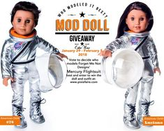 Hi everyone, The question is simple, who wearsit best? Vote now to be entered to win an18-inch American Girl® Doll and this astronaut outfit! This week's Mod