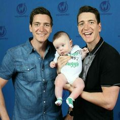 James and Oliver Phelps with an adorable Muggle born child.