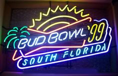 Budbowl 99 Southf Lorida Neon Sign