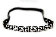 Headband bijou de coiffure aux couleurs #noir et #argent