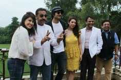 @ Lucknow ... With the actors of my film BAAT HANN GAYI.... Promotional Tour