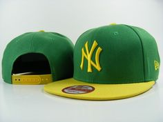 New Era MLB New York Yankees Green Yellow Snapback Hats Caps 3708! Only $7.90USD