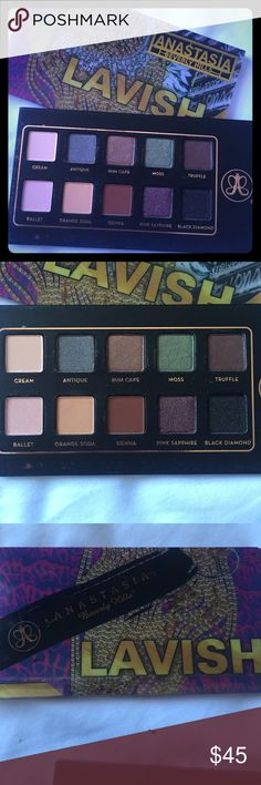 NEW Anastasia Lavish Just swatched the miss and orange soda. Too many pallets! So I'm selling a few. Urban Decay and Kat Von D in closet! Anastasia Beverly Hills Makeup Eyeshadow