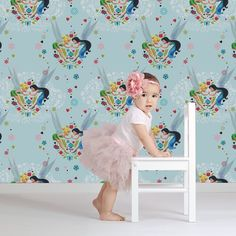 Tinkerbell Pixie Promise Multi-coloured Wallpaper by Graham and Brown