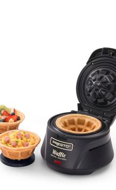 Make thick, fluffy and tender waffles using this Presto Belgian Waffle Bowl maker.