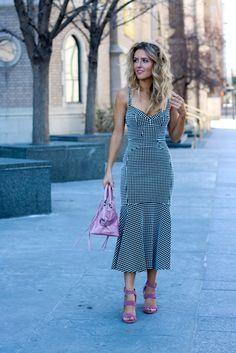 Mod Gingham Dress | Spring feminine dress