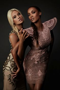 Trya Banks & winner of ANTM college cycle in beautiful dresses
