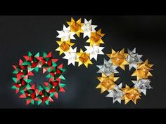 This video shows an instruction on how to fold an origami Christmas wreath. This is an origami poinsettia Christmas wreath. ■you will need Origami or wrappin. Origami Wreath, Origami Quilt, Christmas Origami, Christmas Wreaths, Origami Santa Claus, Art Projects, Projects To Try, Origami Videos, Homemade Christmas Decorations