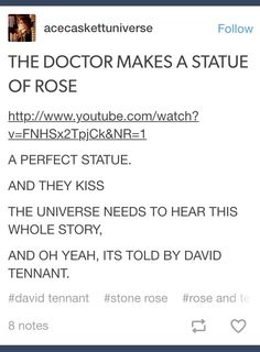 Doctor Who Rose Stone Rose the doctor << I've listened to this story about 5 times and it's adorable TenRose cuteness and you get to hear David Tennants natural accent for 2 hours
