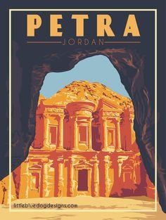Copyright 2020 Little Blue Dog Designs Grand Teton National Park, National Parks, Pyramids Of Giza, Blue Dog, Lofoten, Vintage Travel Posters, Dog Design, Egypt, Poster Prints