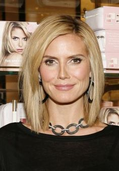 The long bob remains one of the most sought-after hairstyles. Find out cuts work best with what face shapes and hair textures.: The Long Bob: Heidi Klum