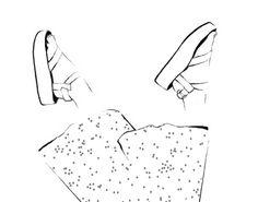 Teva platformed sandal black and white minimal fashion fashion illustration