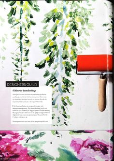 Our Summer Palace wallpaper design with trailing wisteria, as seen in Residence, Holland Summer Palace, Designers Guild, Wisteria, Designer Wallpaper, Holland, Grass, Family Room, Digital, Hot