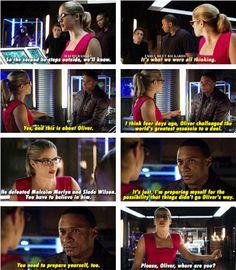 Felicity, Roy & Diggle #Arrow #LeftBehind