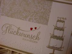Karte zur Hochzeit - Glückwunsch Euch Beiden von Kreatives Herzerl auf DaWanda.com