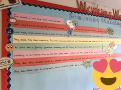 """""""Great to be greeted by Marc's fantastic sentence stack for 🌟🌟🌟🌟🌟"""" Ks2 English, English Book, Learn English, Writing Lessons, Teaching Writing, Writing Ideas, Teaching Ideas, Class Displays, School Displays"""