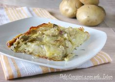 millefeuille of potatoes and artichokes with cheese No Salt Recipes, Wine Recipes, Vegan Recipes, Cooking Recipes, I Love Food, Good Food, Quiche, Muffins, Recipe Mix
