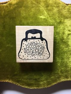 A personal favorite from my Etsy shop https://www.etsy.com/listing/492763746/polka-dots-flower-purse-rubber-stamp