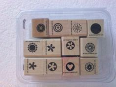 Stampin Up Little Pieces 12 pcs stamp set 2005 tiny designs FREE shipping in USA
