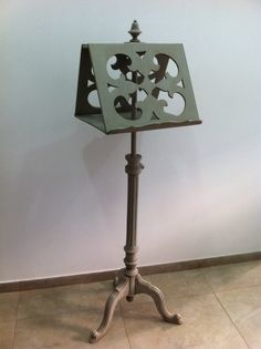 French antique two sided music stand
