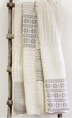Lappeteppe pattern by PT Design of Norway Motifs Afghans, Afghan Patterns, Knitting Patterns, Knitting Ideas, Loom Crochet, Crochet Mobile, Knit Art, Crochet Afgans, Afghan Blanket
