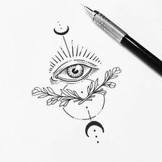 """El ojo que lo ve todo"" von - Art - Tattoo-Ideen Tattoo Sketches, Tattoo Drawings, Art Sketches, New Tattoos, Body Art Tattoos, Small Tattoos, Tatoos, Evil Eye Tattoos, Couple Tattoos"